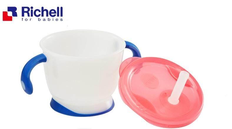 Richell ริชเชล แก้วหัดดื่ม แก้วหัดดูด ถ้วยหัดดื่ม ถ้วยหัดดูด Straw Training Mug 150 ML
