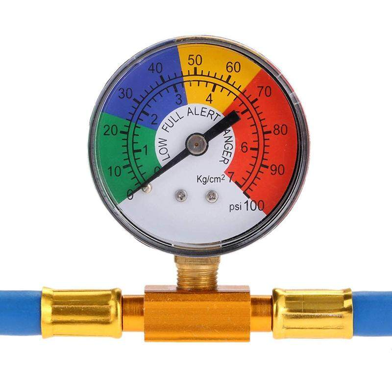 R134A Recharge Hose Car AC Refrigerant Charge Hose Kit Recharging Hose with Gauge A//C 1//2 Recharge Measuring Kit Can Tap Air Conditioning Pressure Gauge R134A