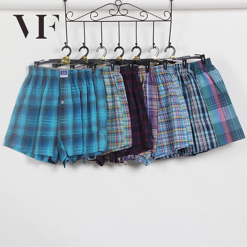 VFA090 กางเกงขาสั้นกางเกงชายหาดกางเกงนอนกางเกงบ็อกเซอร์กางเกงผู้ชายใส่สบายผ้าคอตตอน สี random pattern