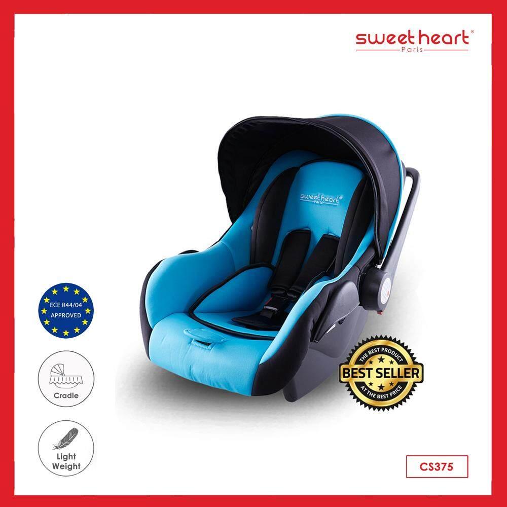 Sweet Heart Paris คาร์ซีท ที่นั่งสำหรับเด็กในรถยนตร์ ปรับ (นั่ง/เอน/นอน) บาร์กั้นปรับได้ 3 ระดับ สำหรับเด็กแรกเกิด รุ่น CS375