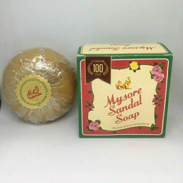 Mysore Sandal Soap(ส่งฟรี Kerry) สบู่ ไมซอร์ ซันดัล น้ำมันแก่นจันทร์ ผิวใส ลดกลิ่นตัว ลดผิวแห้งผื่นคัน ขนาด 150 กรัม