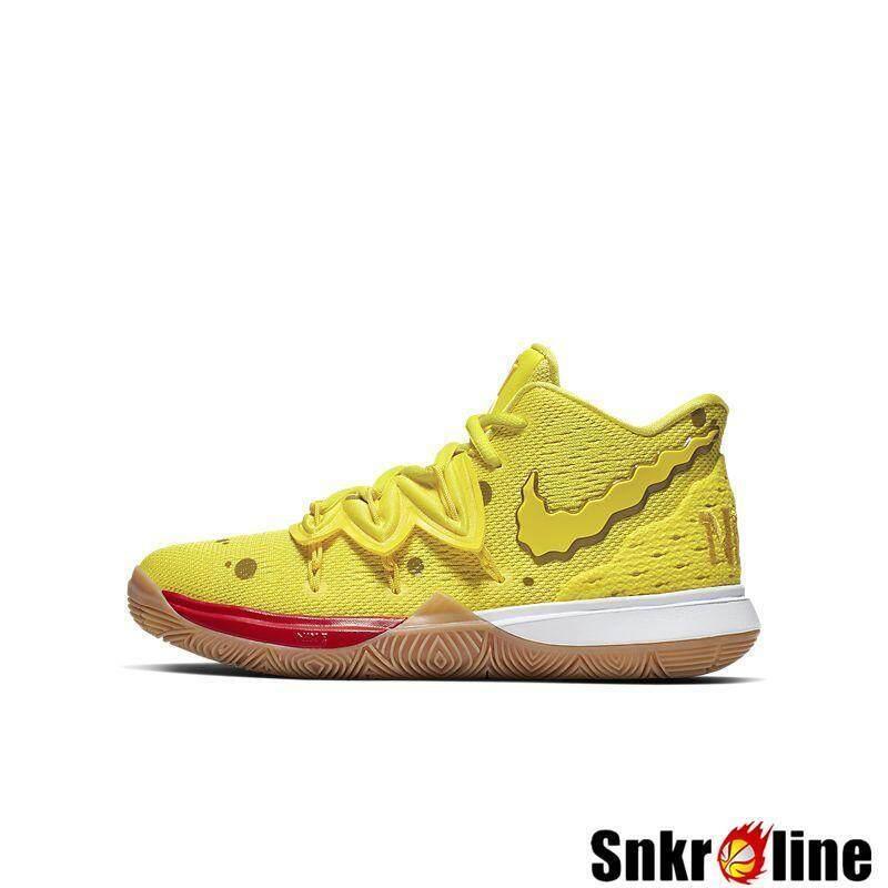 Asli Nike_Kyrie_5 X SpongeBob GS SquarePants Patrick Wanita Sepatu Basket Authentic_Boy 'S Kyrie_Irving_Girl 'S NBA_Sneaker # CJ7227-600 CJ7227-700