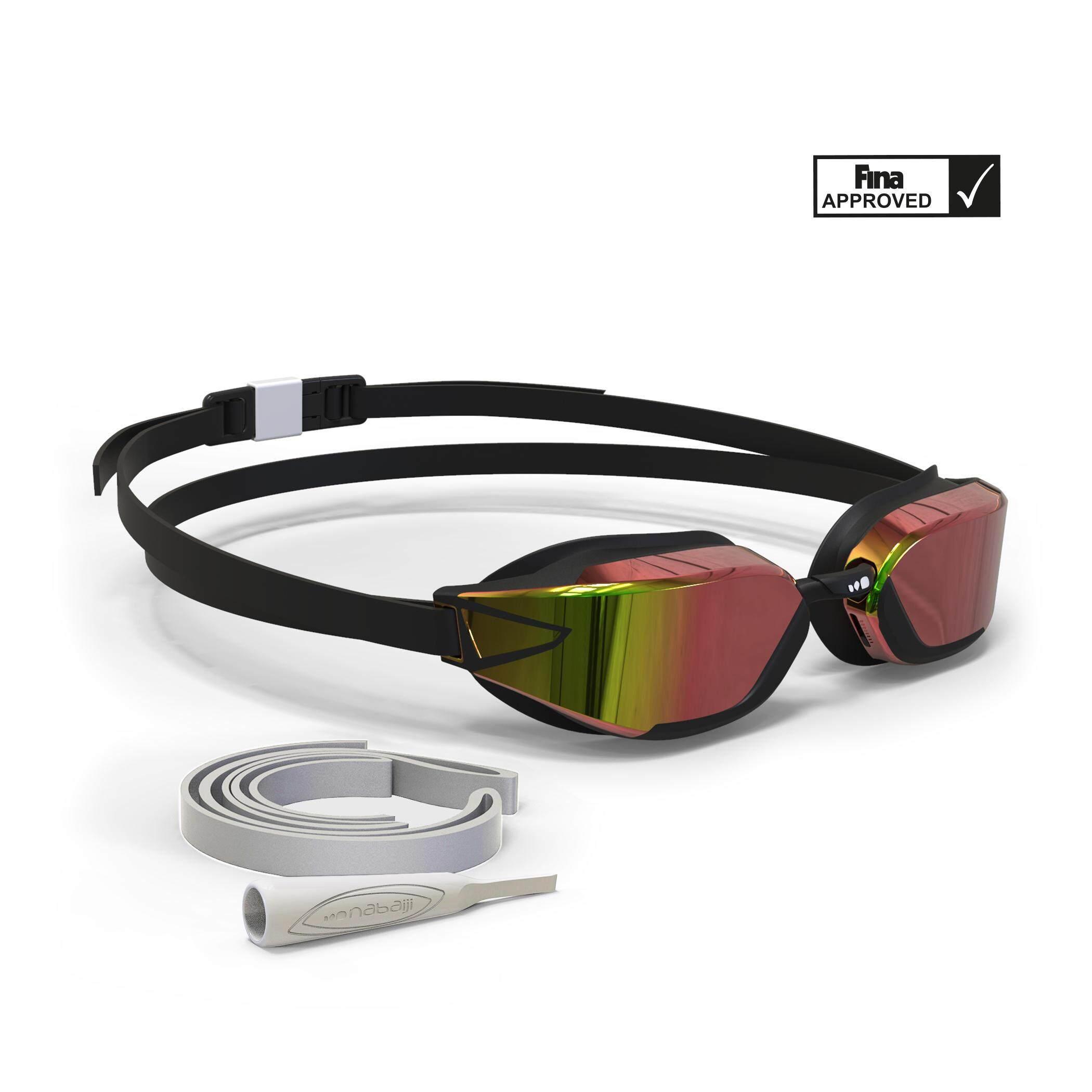 [ด่วน!! โปรโมชั่นมีจำนวนจำกัด] แว่นตาว่ายน้ำรุ่น 900 B-FAST (สีดำ/แดง เลนส์สะท้อนแสง) สำหรับ ว่ายน้ำ