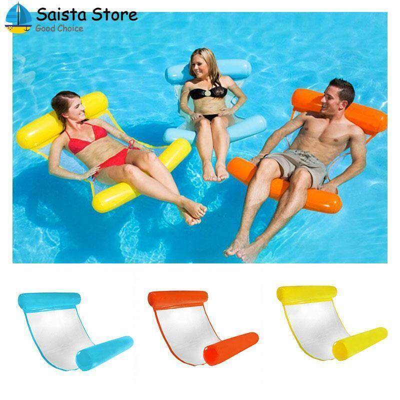 Water Hammock Floating Bed Creative Foldable 4 Color PVC Adults PVC Floating