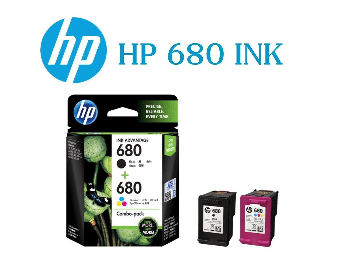 ตลับหมึก Hp 680 (black + Color) Combo-Pack Ink Set Deskjet Ink Advantage.