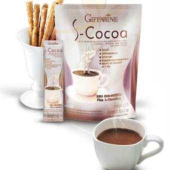 Tipya Shop เครื่องดื่ม อาหารเสริม โกโก้ลดน้ำหนัก รสโกโก้ S-Cocoa โกโก้ cocoa เหมาะสำหรับผู้ดูแลรูปร่าง ควบคุมน้ำหนัก อิ่มนาน ของแท้  กิฟฟารีน