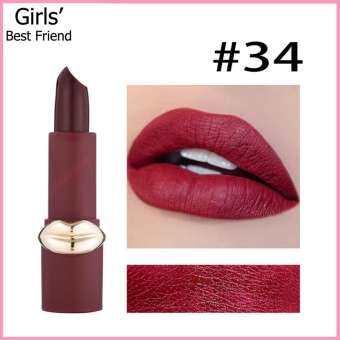 รีวิว MISS ROSE ลิปสติกเนื้อแมท สีสวยชัด กันน้ำ ติดทนนาน มีให้เลือกถึง 6 สี ขนาด 3.5 กรัม, MISS ROSE Matte Lipstick, long lasting, waterproof, easy to wear, net weight 3.5 grams