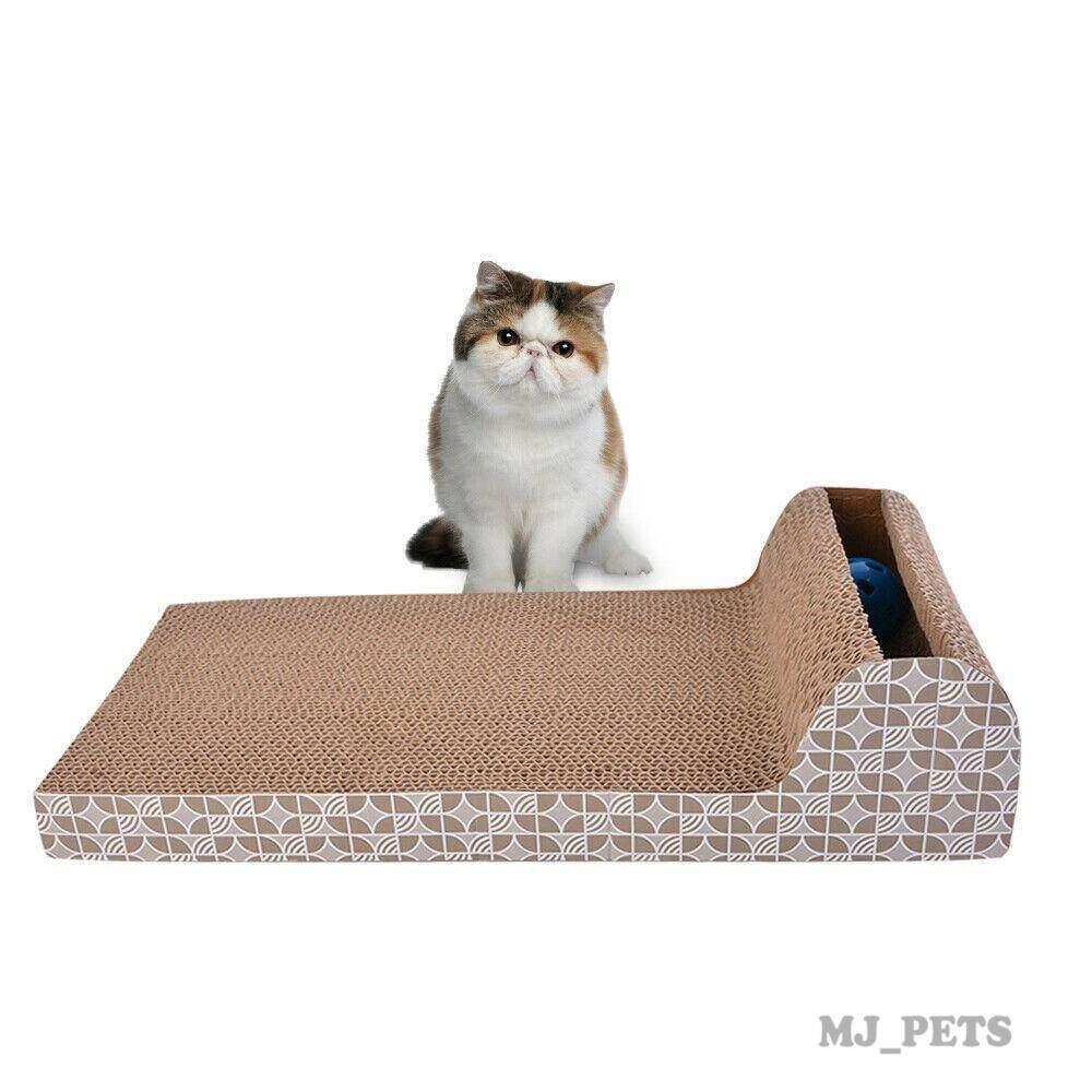 Mj - โซฟาลับเล็บแมว พร้อมรางบอล ทรงสี่เหลี่ยมผืนผ้า ยาว.
