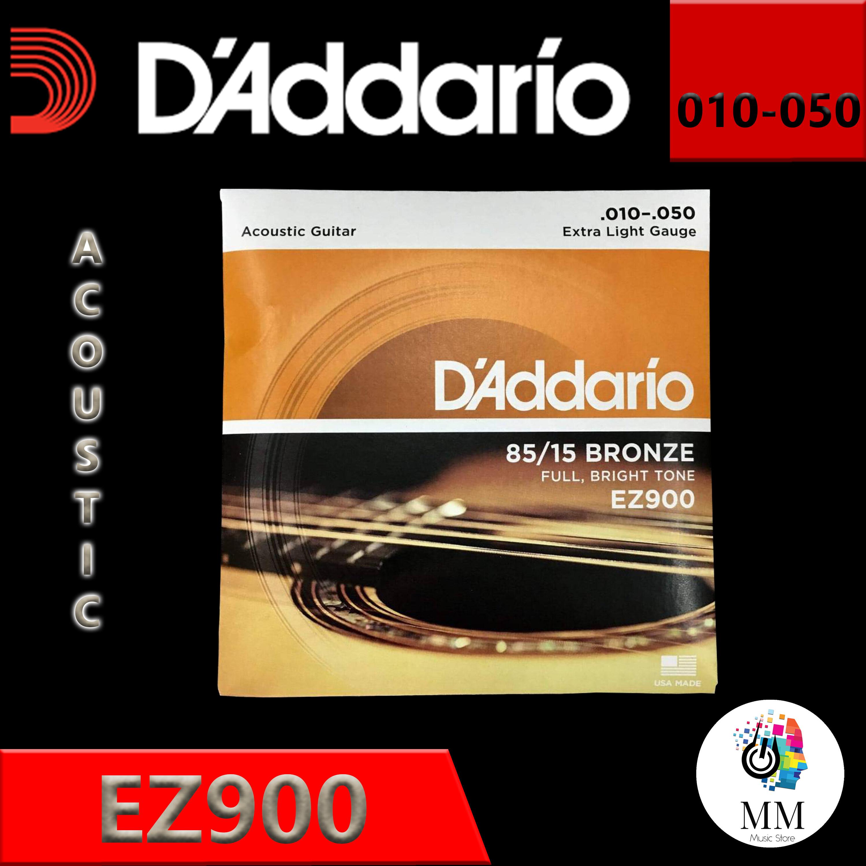 สายกีต้าโปร่ง Daddario Ez900 ของแท้💯% เบอร์10 Made In Usa สายกีต้าร์อะคูสติก สายกีต้าร์คลาสสิก.