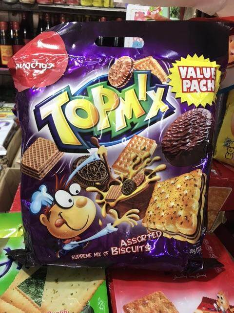 Munchy's TOPMIX และ FUNMIX ขนมปัง บิสกิต เวเฟอร์ แครกเกอร์ รวมหลายๆแบบ จากมันชี่ ราคาพิเศษสุดๆ