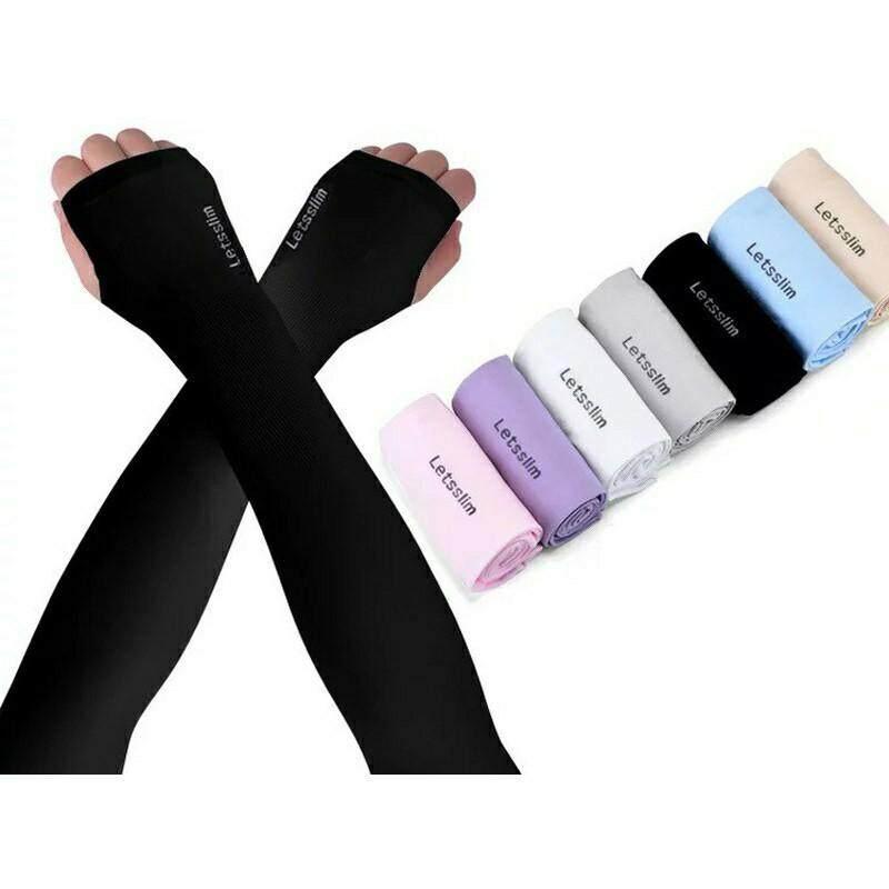 LadyCloset Shop (N135) ปลอกแขนผ้ายืด แบบสวมนิ้ว เนื้อนิ่มเย็นสบาย กันแสงUV