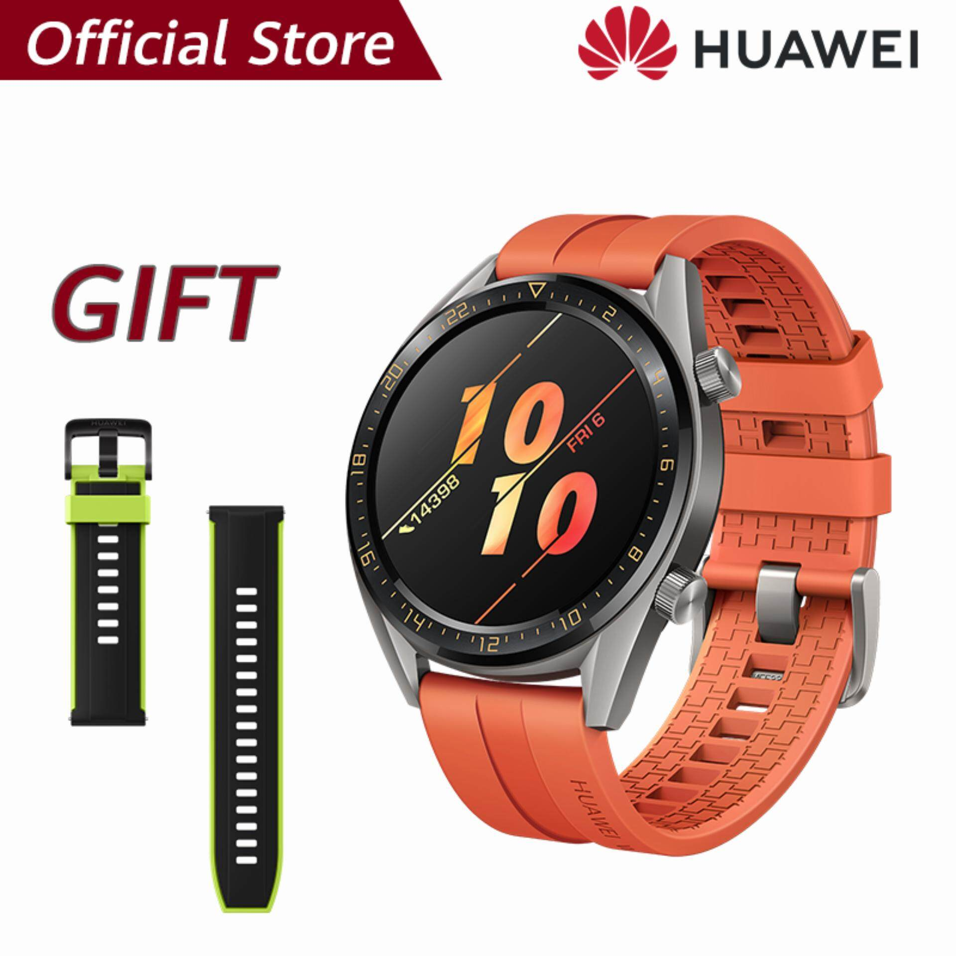 【ผ่อน 0% 10 เดือน】Huawei Watch GT แบตเตอรี่ที่แข็งแกร่ง*รับของแถม Huawei strap