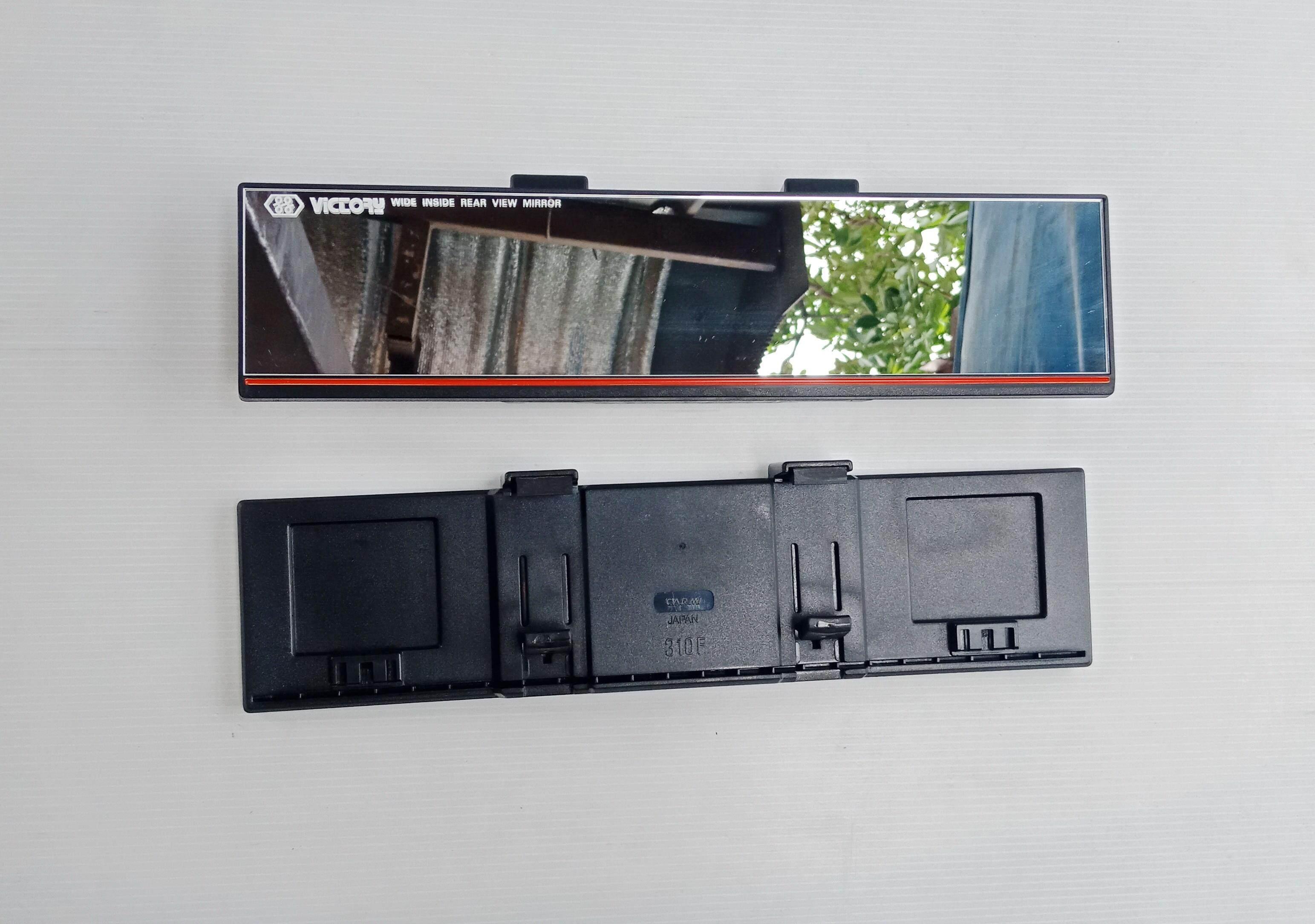 กระจกมองหลังตัดแสง มุมกว้าง เคลือบสารโครเมี่ยม กระจกมองหลัง กระจกมองหลังเสริม เลนส์กว้างพิเศษ กระจกมองหลังตัดแสง ใส่ได้รถทุกรุ่น กระจกส่องหลัง ในรถยนต์ กระจกมองหลังกรองแสง กระจกมองหลังใหญ่ ยาว 310 Mm(เส้นสีแดง).