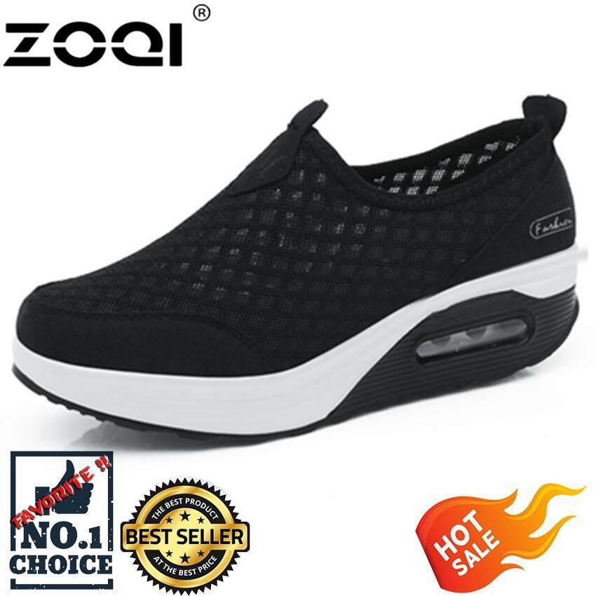 ZOQI Women Casual Shoes New Arrival Walking Creepers Fashion Waterproof Wedges Platform Woman Sneakers Shoes -
