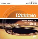 ขาย D Addario สายกีต้าร์ ของแท้ เบอร์ 010 050 โปร่ง รุ่น Ez900 ของแท้ ถูก