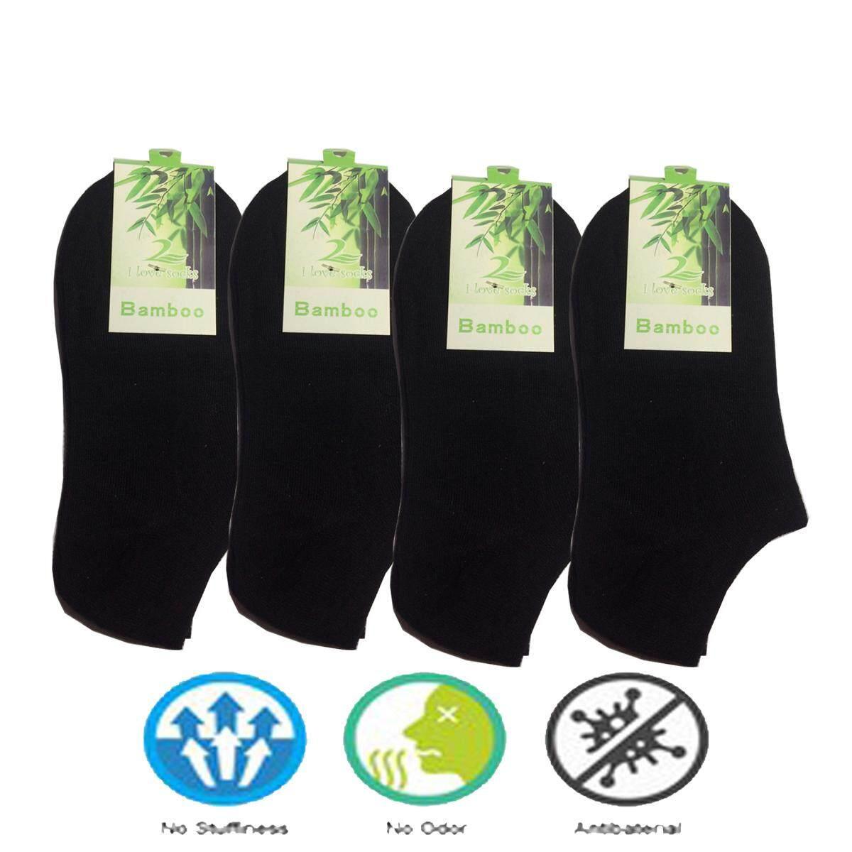 Bamboo Fiber socks ถุงเท้าใยใผ่ ข้อสั้น ช่วยลดกลิ่นเท้า แพ็ค 12 คู่