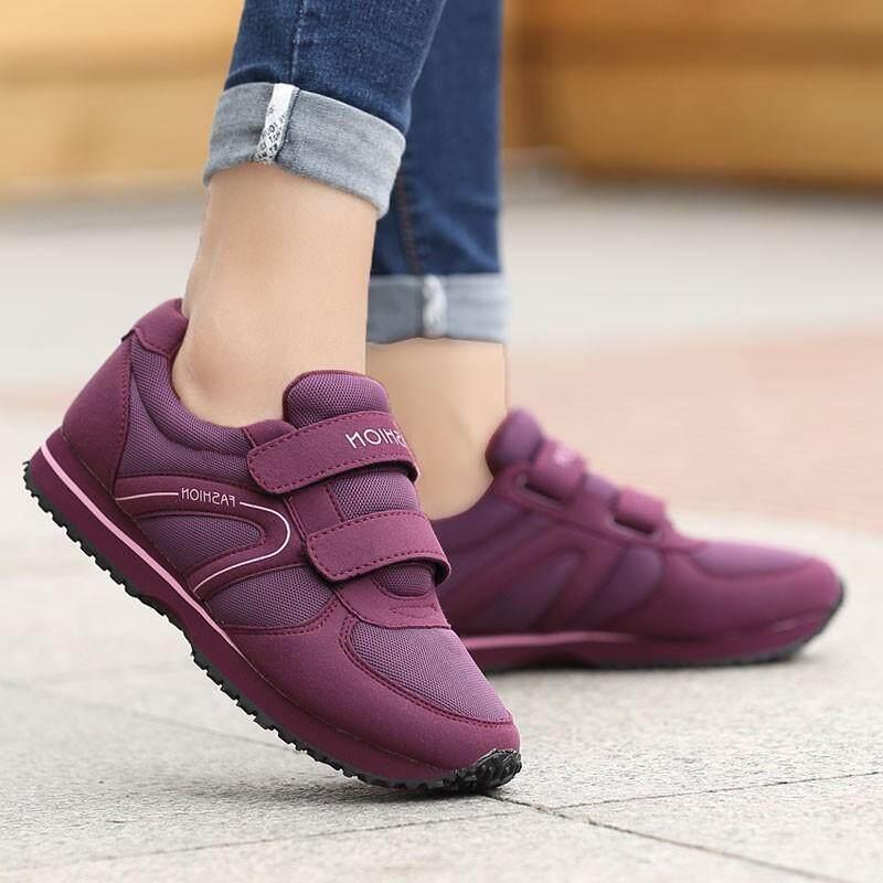 รองเท้าออกกำลังกาย ใส่เดิน วิ่ง มีแถบเมจิก ลอกแปะ ใส่ง่าย เเฟชั่นเกาหลี Diva น้ำหนักเบา สบาย By Fin Tech.