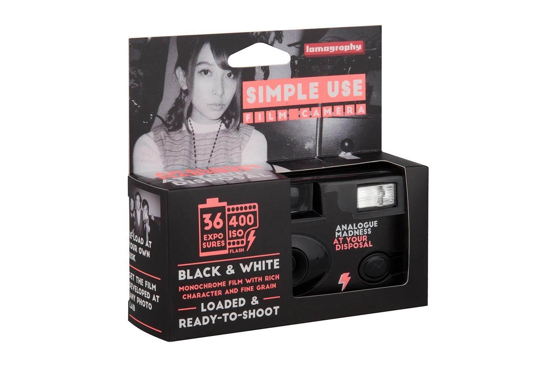 กล้องฟิล์ม Lomography Simple Use Film Camera Black And White 400 โหลดฟิล์มเข้าไปใหม่ได้ กล้อง Lomo 35mm 36exp.