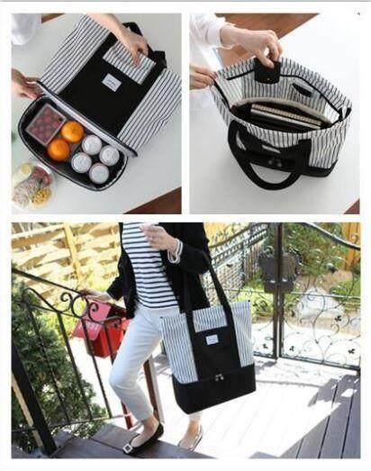 ซื้อที่ไหน กระเป๋าเก็บความเย็นเกาหลีรุ่นลายทาง กระเป๋า กระเป๋าสะพาย แฟชั่น. กระเป๋าคุณแม่
