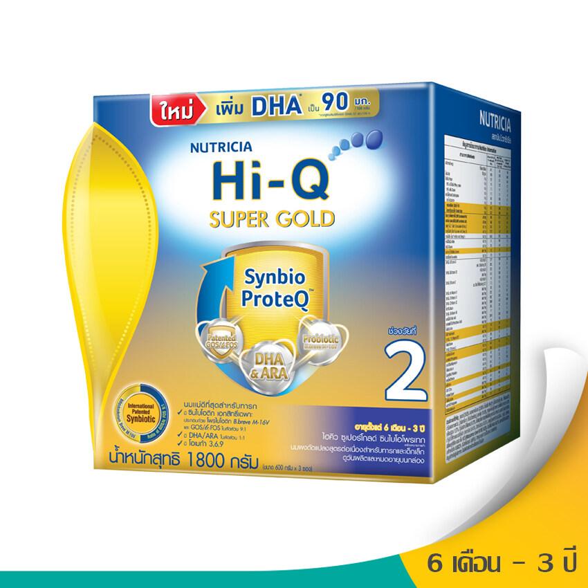 แนะนำ Hi-Q ไฮคิว นมผงสำหรับเด็ก ช่วงวัยที่ 2 ซูเปอร์โกลด์ SYNBIO PROTEQ รสจืด 1800 กรัม