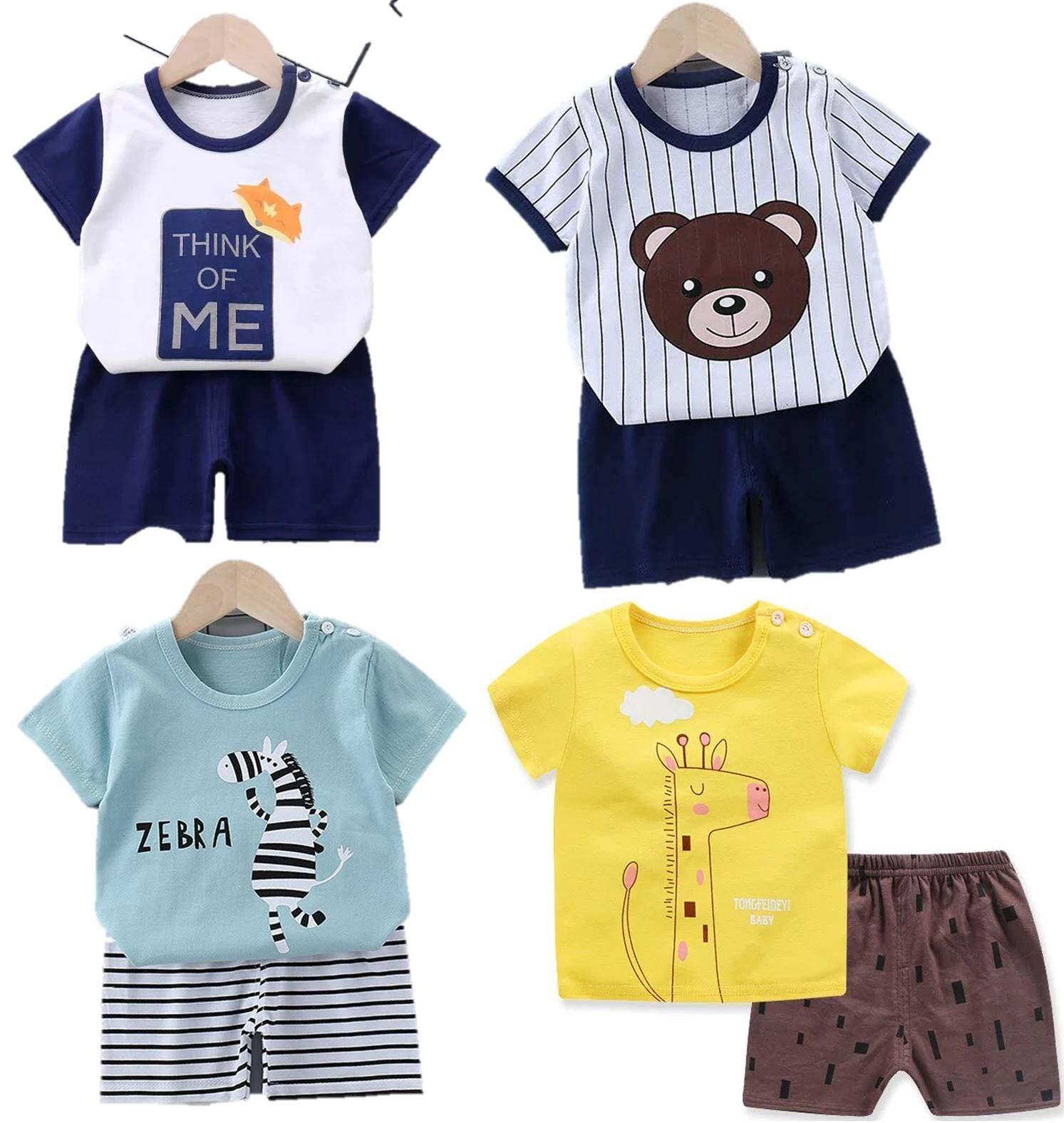 อ.2 ชุดแขนสั้นผ้ายืดนิ่มพร้อมส่ง(3เดือน-3ขวบ) เสื้อผ้าเด็ก ชุดเด็กผู้หญิง ชุดเด็กผู้ชาย.