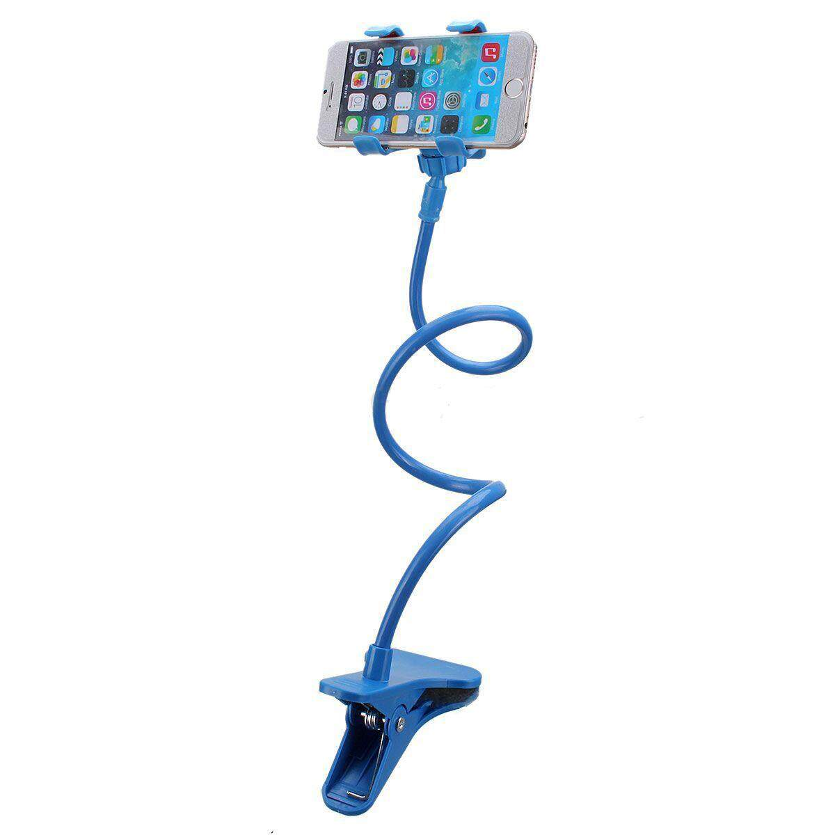 Universal Mobile Phone Support Pinza Flexible Adjustable Car Mesa Bed Light Blue By Benefitwen.