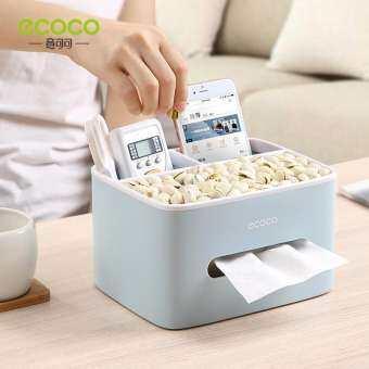 ECOCO กล่องทิชชู่อเนกประสงค์ กล่องใส่ทิชชู่ และใส่ของอเนกประสงค์ กล่องใส่กระดาษทิชชู่ ที่เก็บกระดาษทิชชู่ ที่ใส่กระดาษทิชชู่ กล่องทิชชู่ ที่ใส่ทิชชู่ ของแต่งบ้าน ออฟฟิต ห้องรับแขก