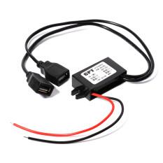 โปรโมชั่น Dc 12V To Dc 5V Converter Module Dual Usb Output Power Adapter 3A 15W Max กรุงเทพมหานคร
