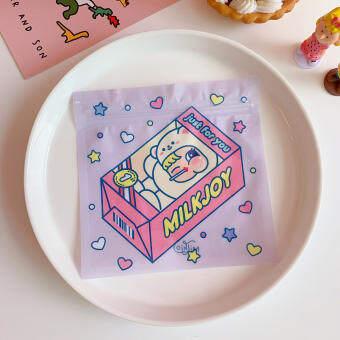 CYR124เกาหลีสร้างสรรค์ขนมน่ารักปิดผนึกถุงอาหารสาวบิสกิตถุงบรรจุภัณฑ์ขนมถุงขนมถุงเก็บ