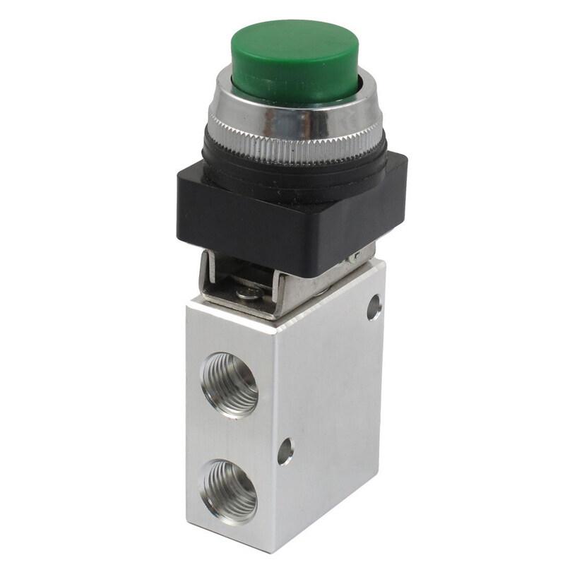 Bảng giá JM-322PPL 13mm Thread 2 Position 3 Way Green Push Button Air Mechanical Valve Phong Vũ
