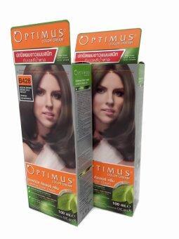 DCASH Optimus Hair Color B428 ครีมเปลี่ยนสีผม น้ำตาลกลางประกายน้ำตาลทอง แพคคู่