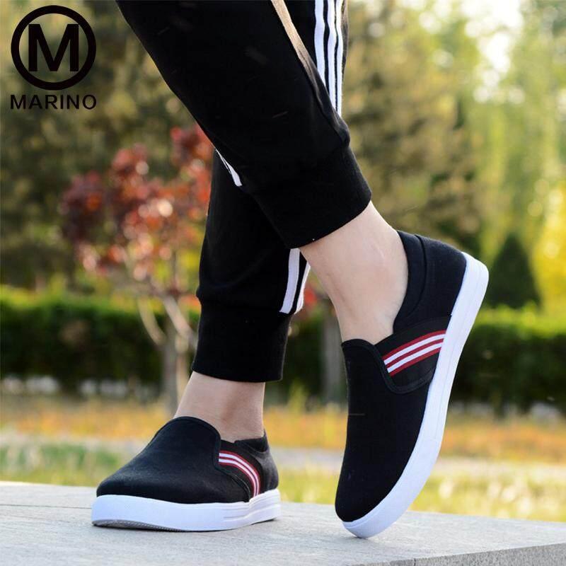 Marino รองเท้า รองเท้าหุ้มส้น รองเท้าทรงสลิปออน รองเท้าผ้าใบ ผู้ชาย No.B026