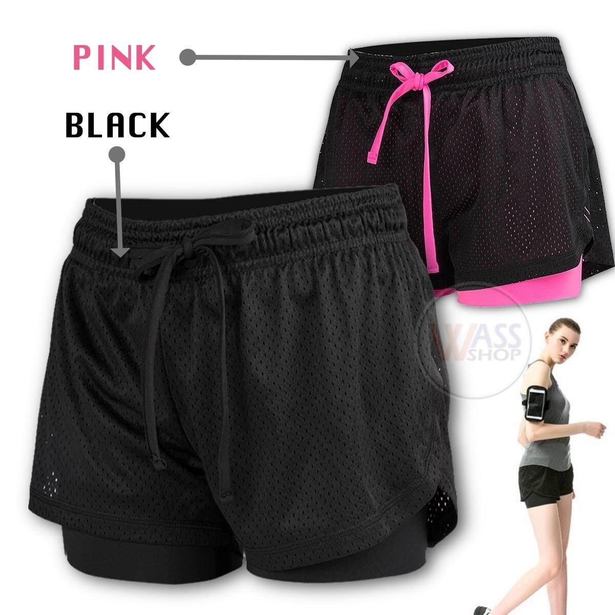 กางเกงวิ่ง กางเกงฟิตเนส กางเกงออกกำลังกาย กางเกงขาสั้น สำหรับผู้หญิง พร้อมส่ง/ส่งไว By Wass Shop.