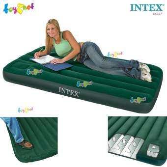 Intex ส่งฟรี ที่นอนเป่าลม แคมป์ปิ้ง 3.5 ฟุต (ทวิน) 0.99 x1.91x0.22 ม. มีสูบลมเท้าเหยียบฝังในตัว รุ่น 66927