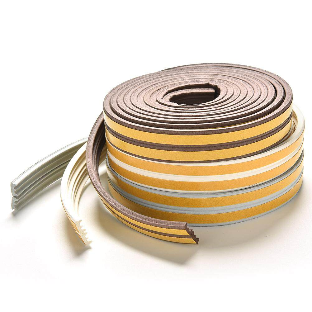 High quality 5M E/D/I-type Foam Draught Self Adhesive Window Door Excluder Rubber Seal Strip