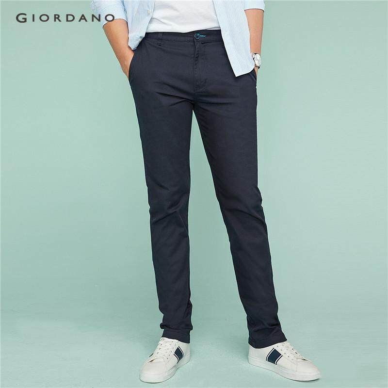 Giordano Men Pants Stretchy Low Rise Slim Tapered Pants For Men Ultra Soft Waistband Casual Khakis Free Shipping 01117016