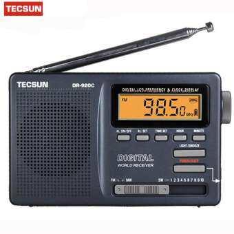 Tecsun DR-920C เรดิโอเอฟเอ็มสะเอ็มดับเบิลยู 12สายรับสัญญาณนาฬิกาดิจิตอล และแบล็คไลท์เอฟเอ็มวิทยุแบบพ-