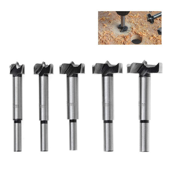 Drill Bits 15/20/25/30/35mm,Set of 5 Pieces Carbide Steel Hinge Hole Cutter,Woodworking Boring Wood Hole Saw Cutter perfect for Wood Plastic Cupboard Panel,Door Knobs Installation Malaysia