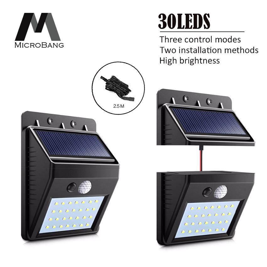Solar Lights Lamp Outdoor LED Wireless Waterproof Wall outside Garden Lighting