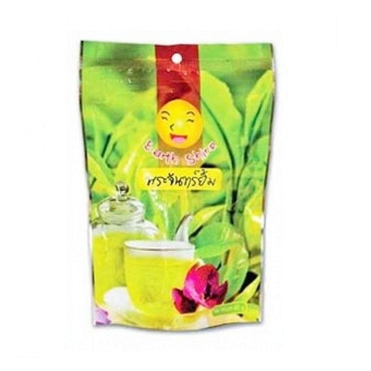 ชาสมุนไพร พระจันทร์ยิ้ม ใบชาเขียวอัสสัม  30 ซอง (1 ห่อ ).