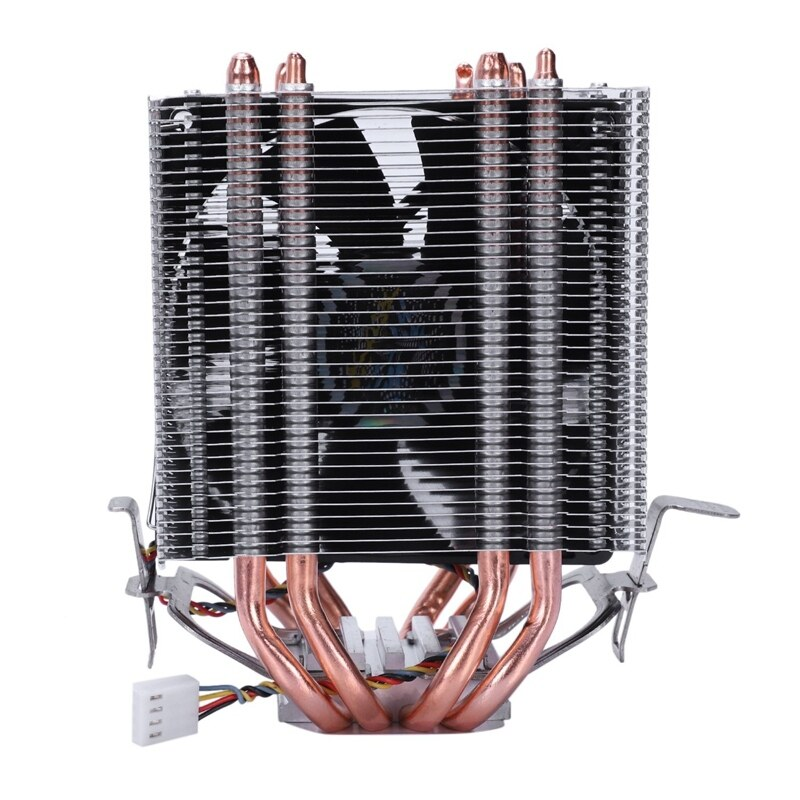 Bảng giá LANSHUO 4 Heat Pipe 4 Wire Without Light Single Fan Cpu Fan Radiator Cooler Heat Sink For Intel Lga 1155/1156/1366 Cooler Heat Sinks(Black) Phong Vũ