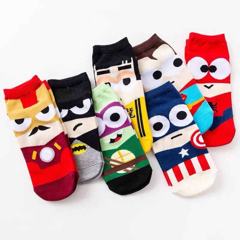 ถุงเท้าผ้าฝ้ายลายการ์ตูน ถุงเท้า ถุงเท้าข้อสั้น ถุงเท้าแฟชั่น ถุงเท้าhero.