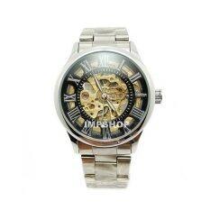 ซื้อ Debor นาฬิกาข้อมือชาย ระบบ Auto หน้าปัดฉลุตัวเลขโรมัน สายสแตนเลส สีดำ เงิน ออนไลน์ กรุงเทพมหานคร