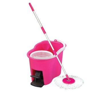 Decko Easy Mop ชุดถังปั่นไม้ม็อบ (สีชมพู)