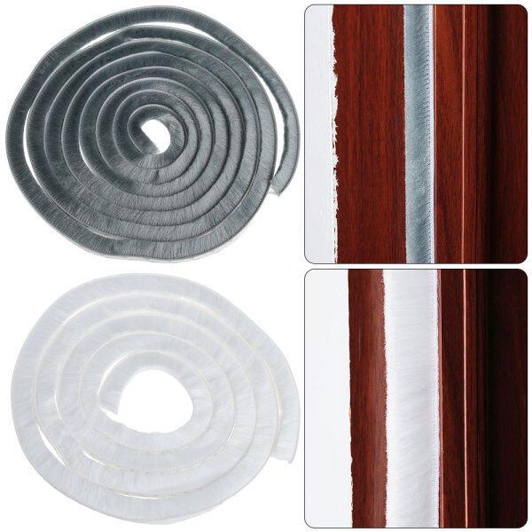 OADSVW 5/10m Home New Gadgets Windproof Brush Door Strip Sealing Strip Door And Window Seal Pile Weatherstrip Self Adhesive