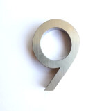 ส่วนลด Designer Collection ป้ายบ้านเลขที่ เลข 9 ตัวเลขสแตนเลสแบบด้าน สไตล์โมเดิร์น สแตนเลสเงินแบบด้าน Designer Collection ไทย