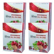 ซื้อ Detox All In One ดีท๊อกซ์ ออลล์ อิน วัน 4 กล่อง 10 ซอง กล่อง ใหม่ล่าสุด
