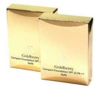 Goldberry Compact Foundation SPF25 PA++ชนิดเติม (แพ็ค2ชิ้น) No.03ผิวสองสี[รีฟิว]
