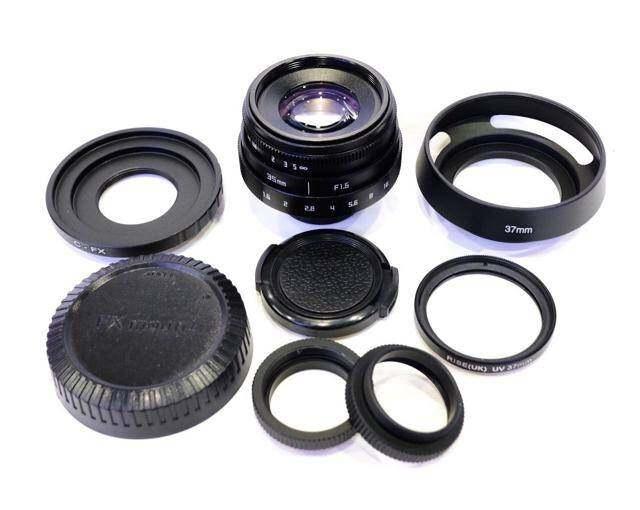 Fujian 35 Mm F1.6 Mk2 เลนส์มือหมุนหน้าชัดหลังเบลอ Combo Set !!(ครบชุดพร้อมใช้งาน แถมเพียบ)ใส่กล้อง Sony Fuji Olympus Panasonic Canonm Nikon1.