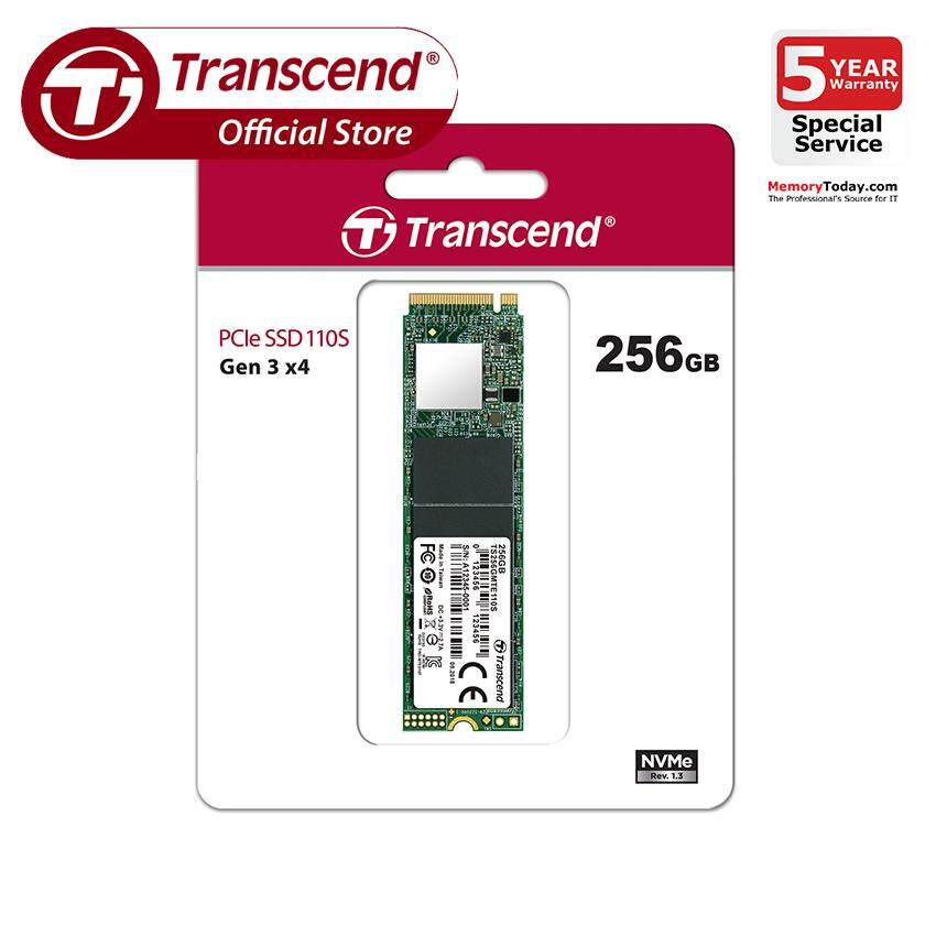 Transcend Pcie M.2 Nvme Ssd 110s 256gb (ts256gmte110s) By Memorytoday.com.